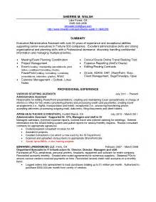 executive assistant resume sles administrative assistant resume sales assistant