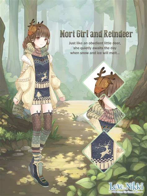 mori girl  reindeer love nikki dress  queen wiki
