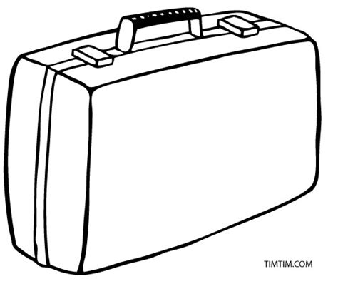 Suitcases Coloring Vw Coloring Page
