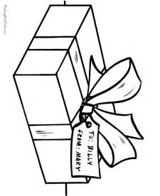 christmas presents printable coloring pages