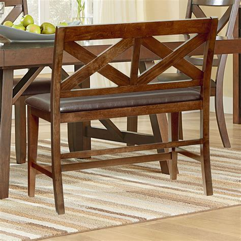 omaha upholstery standard furniture omaha brown dining bench with