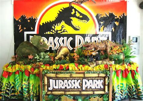 jurassic park themed birthday party kids party jurassic park decoration english week deco