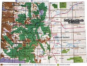 map showing owned lands in colorado