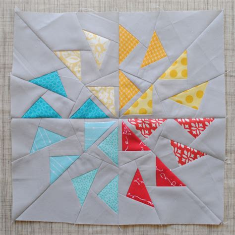 clover violet foundation paper piecing flying geese