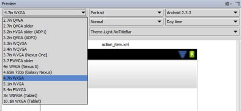 update layout preview button android preview configurations in intellij idea 12