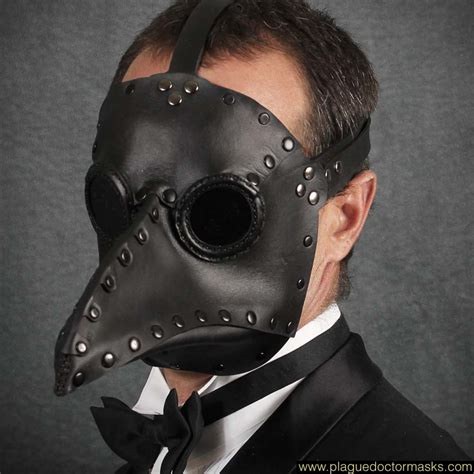 Masker Black Mask black mask plague doctor mask for sale
