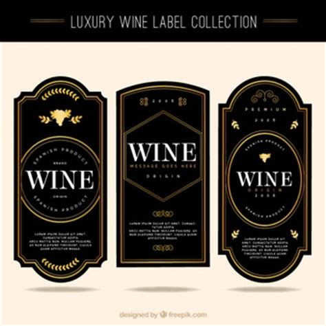 Wine Labels Vectors Photos And Psd Files Free Download Wine Label Template Photoshop