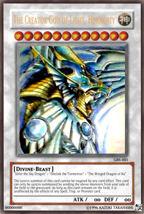 Creator God Of Light Horakhty by Horakhty Card Experimental Cards Yugioh Card Maker Forum