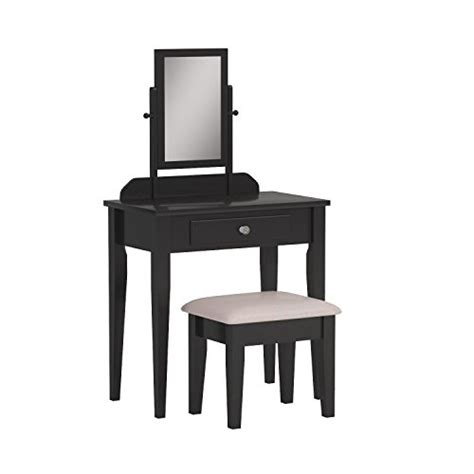 Iris Vanity Table And Stool by Crown Iris Vanity Table Stool Espresso Finish With