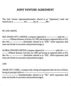 10 sample joint venture agreement free sample example
