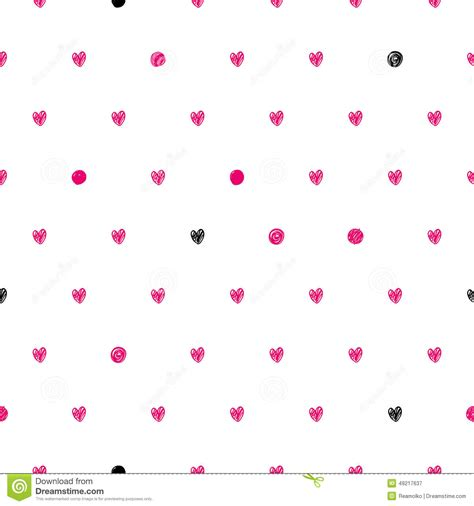 dot pattern heart polka dot doodle hearts pattern stock vector