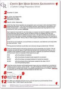 donation letter request show me the money