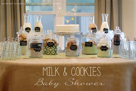 Neutral Baby Shower Themes by Milk Cookies Baby Shower A Small Snippet