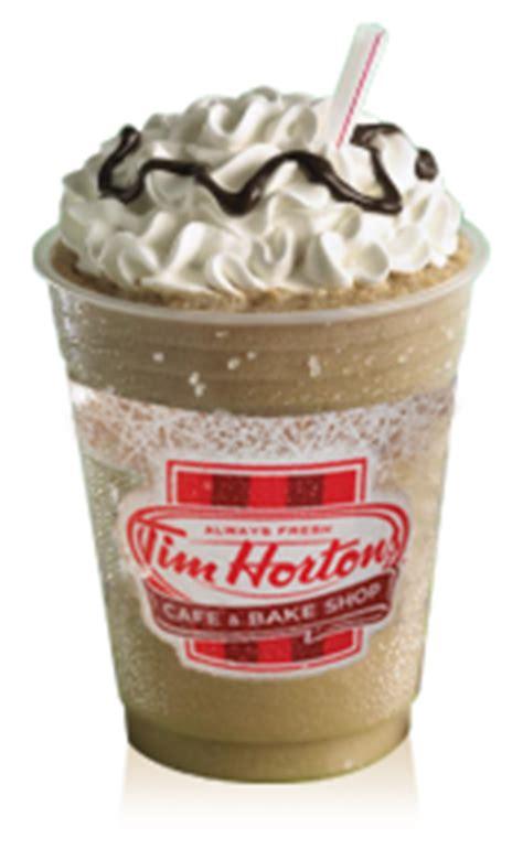 frozen hot chocolate tim hortons caffeine iced mocha latte tim hortons