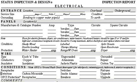 electrical inspection report template roof inspection report sle book covers