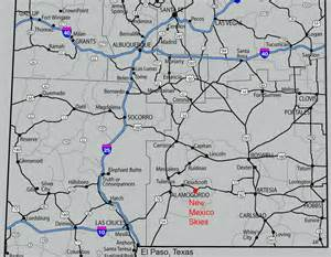 road map of new mexico and maps nm skies