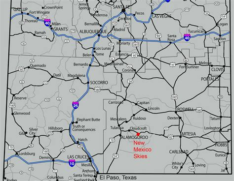 road map of nm maps nm skies