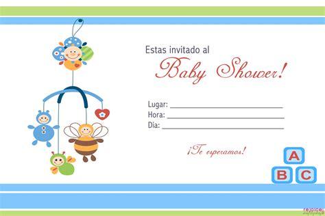 invitaciones de baby shower gratis invitaciones baby shower 4 gratis personalizables para
