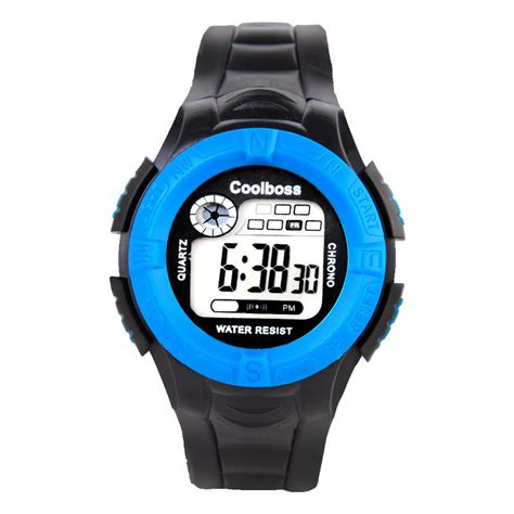 Stopwatch Sewan 30 M digital jelly led shockproof sports alarm stopwatch hour 30m waterproof dress watches