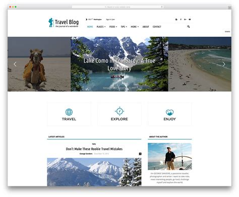templates blogger travel 40 best personal blog wordpress themes 2018 colorlib