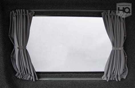 stretch curtains grey vw t5 t6 drivers side curtains t5 t6 curtains