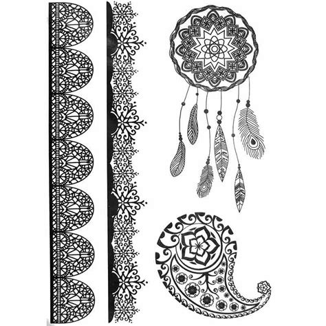 tattoo mandala dentelle tatouage ephemere tatouage temporaire tatouage dentelle
