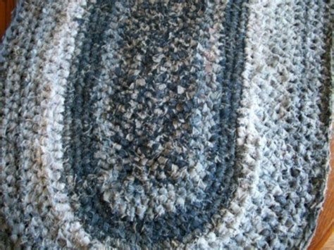 how to crochet rug crocheted blue rug thriftyfun