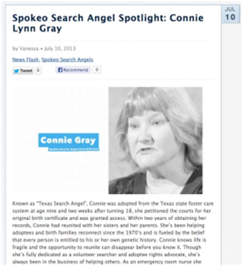 Spokeo Email Search Search Spotlight Connie Gray Spokeo Community