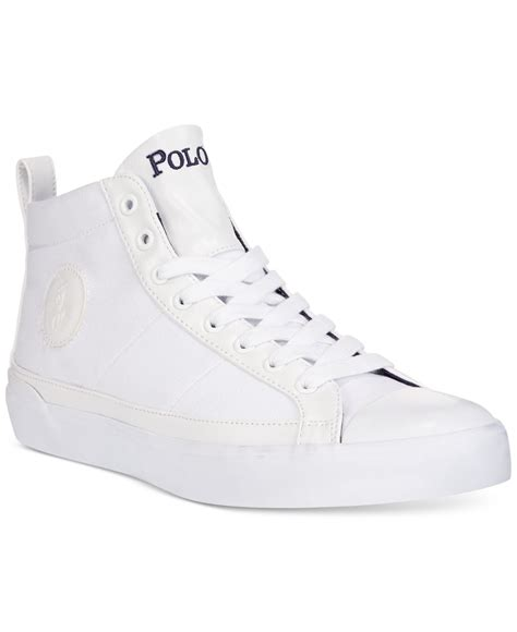 polo white sneakers polo ralph clarke canvas sneakers in white for