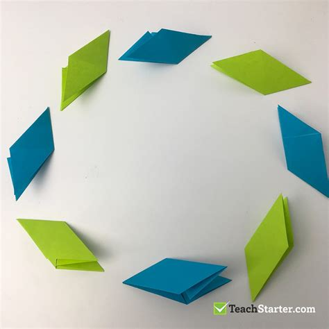 Origami Sticky Notes - origami transforming using sticky notes teach