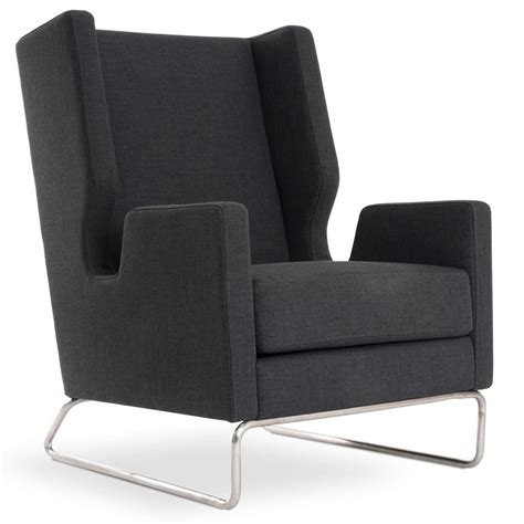 Ink Chair by Gus Modern Danforth Tweed Ink Chair Eurway
