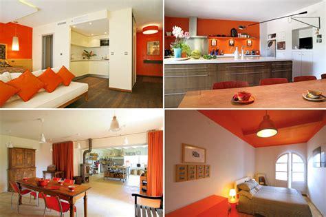 deco cuisine orange deco cuisine orange et gris