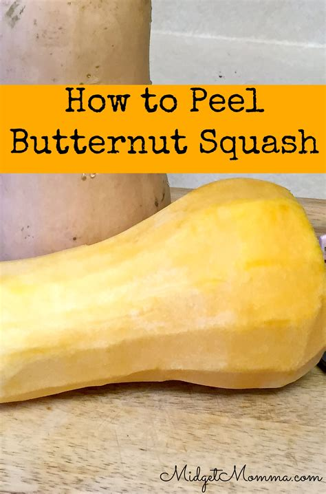 peel butternut squash step by step instructions