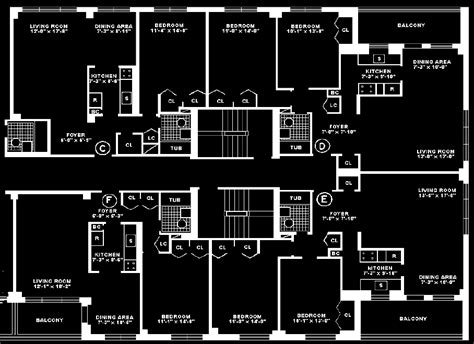 House Plans With Floor Plan Executive House Apartments