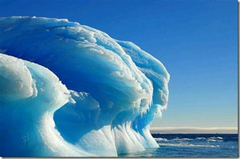 frozen waves frozen wave in antarctica art of man and nature pinterest