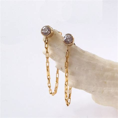gold looped chain earrings kula jewelry
