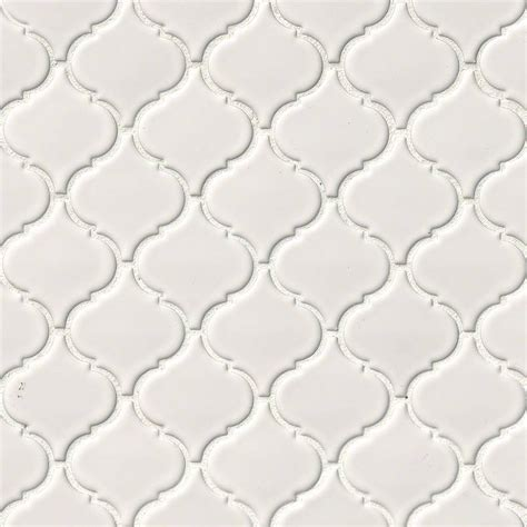 white glossy arabesque backsplash tile white tile collection