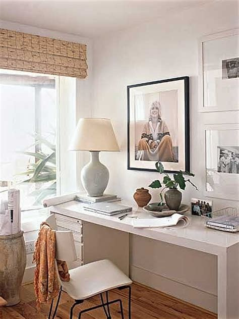 small white home office interior design