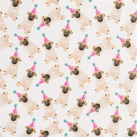 pug wrapping paper roll birthday pugs wrapping paper the container store