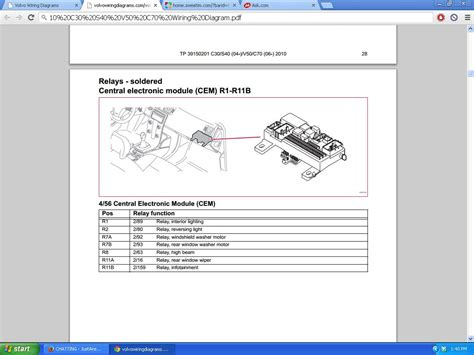 volvo v50 cem wiring diagrams repair wiring scheme
