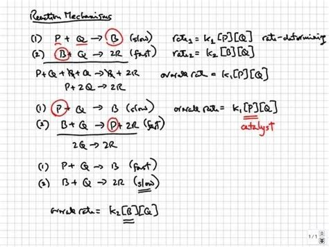tutorial questions on chemical kinetics chemical kinetics reaction mechanisms college ap