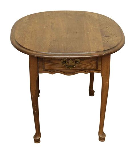antique side tables for living room wooden oval side table olde good things