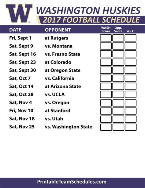 section 2 football schedule 2017 washington huskies football schedule pac 12