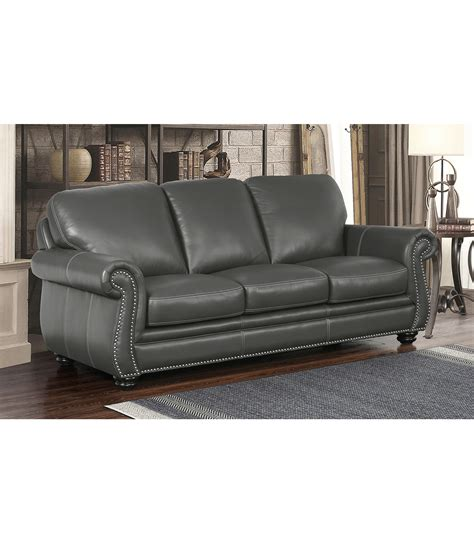 Gray Leather Sofa Sofas Kassidy Leather Sofa Grey