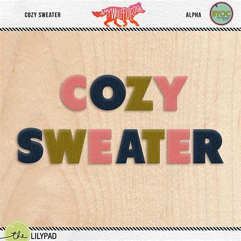 Sweater Alpha Team digital scrapbooking alpha wolff designs