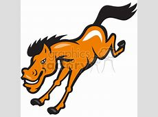 Download bronco horse jumping cartoon royalty-free clipart ... Girl Soccer Silhouette Clip Art