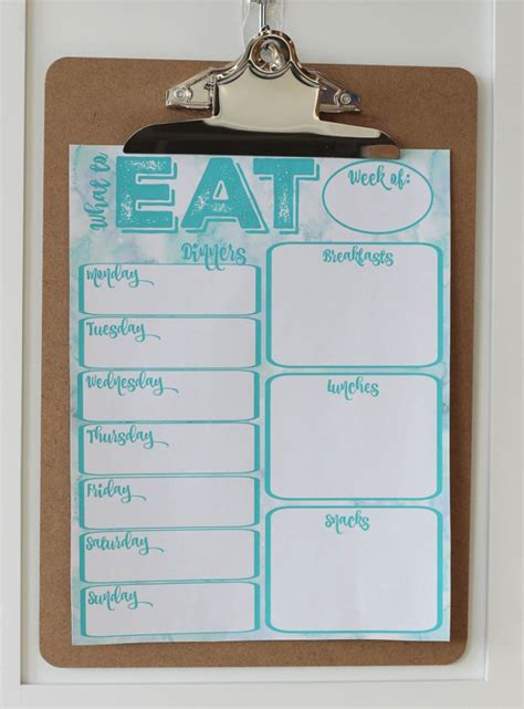 Pantry Meal Planner by Pantry Makeover Free Printable Weekly Meal Planner And