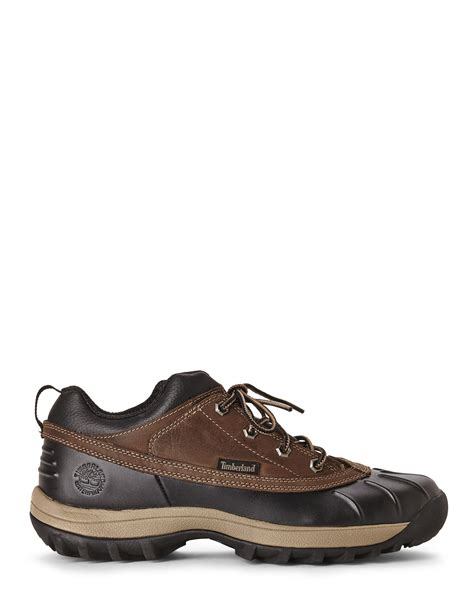 timberland chocolate canard mid duck boots in brown for