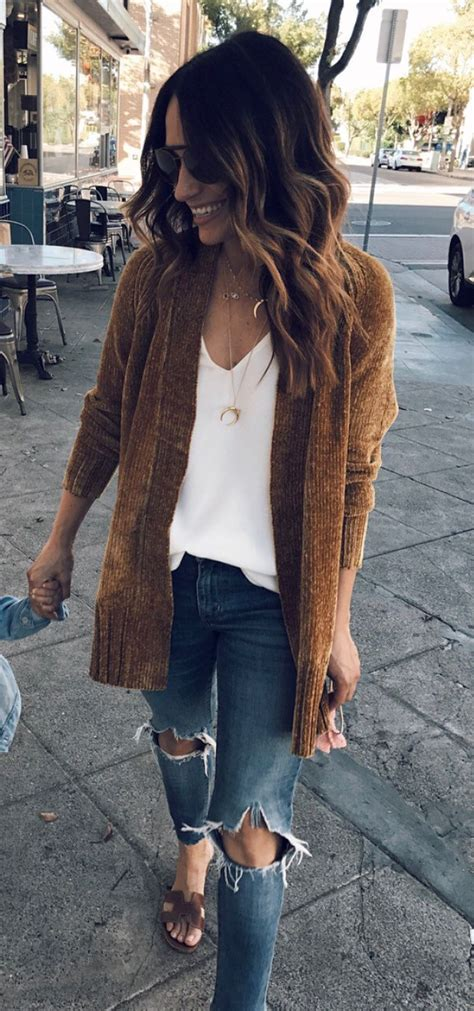 fall outfits brown cardigan fashion fall outfits style