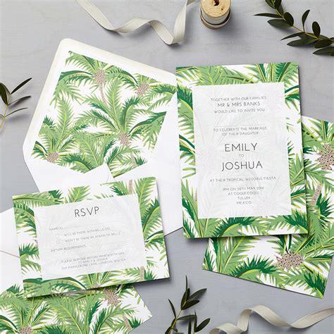 Tropical Wedding Invitations by Tropical Invitation Says I Do